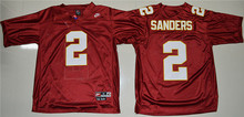 High Quality Nike Nike Florida State Seminoles (FSU) Deion Sanders 2 College Basketball Throwback Jersey - Red(China (Mainland))