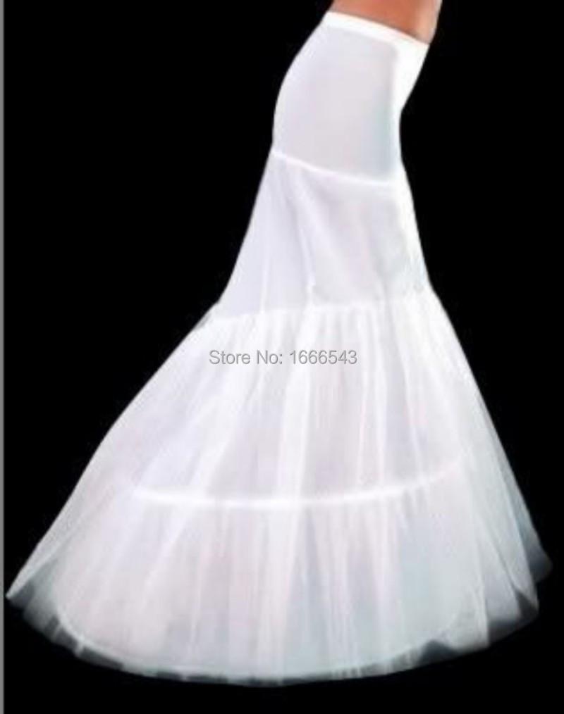 2015 New Ivory Bridal Petticoats Mermaid Floor Length 3