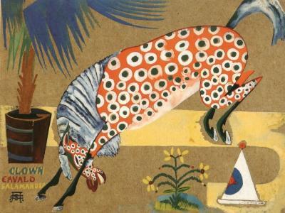 item Amadeo De Souza Cardoso Clown Horse Salamandra Living room decoration sharply Zodiac oil painting