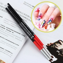 3pcs Nail Art Drawing Painting Set Tool Brushes Design UV Gel Acrylic Brush Pen  Free Shipping(China (Mainland))
