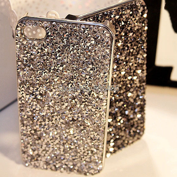 New Style Fashion 3D Hi-Q Luxury Bling Rhinestone Hard cover pretty phone case for iphone 5 5S case(China (Mainland))