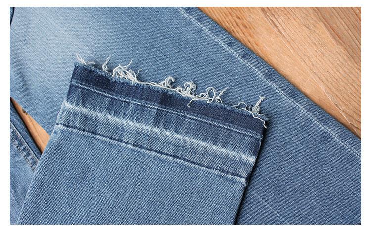 Скидки на 2016 женские летние джинсы женский роковая джинсовые брюки мыть Blesched миди джинсы