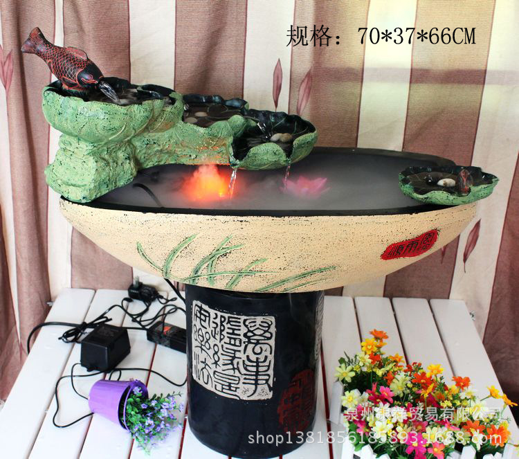 Water fountains garden fountain resin craft ornaments for Coupons for factory direct craft