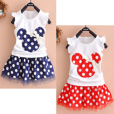 Cute Kids Baby Girls Mouse Party Dress Vest Skirt Toddler Clothes 1-4Year 2016 New Free Shipping<br><br>Aliexpress