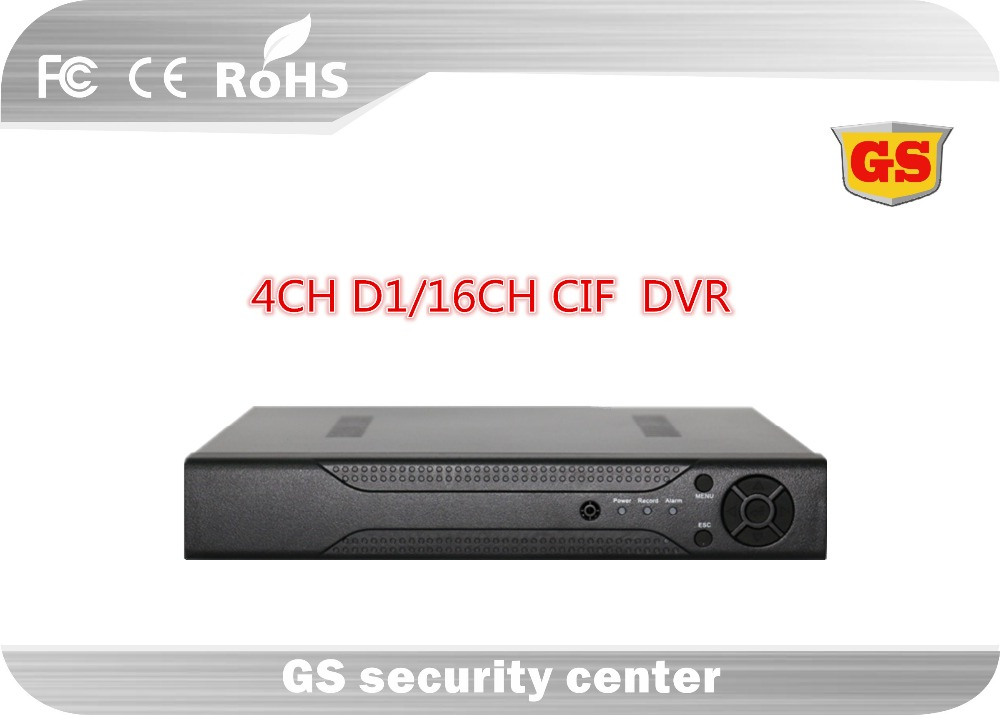 GS 4 Channel D1 16 Channel CIF CCTV DVR Video Recorder P2P HDMI Real Time Recording Mobile Video Surveillance(China (Mainland))