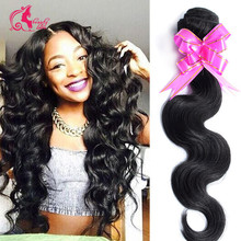 7A Grade Brazilian virgin hair body wave 3 Bundles Queen Hair Products brazilian body wave brazilian hair weave bundles100g/pc(China (Mainland))