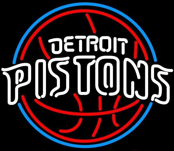"""New Detroit Pistons Light Size:17""""X17"""" Glass Neon Sign Beer Bar Pub Arts Crsfts Gifts Sign(China (Mainland))"""
