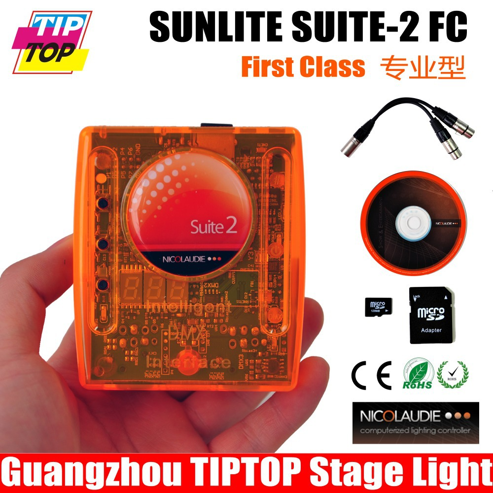 TIPTOP Sunlite Suite 2 First Class Multiple FC USB-DMX Decoder Standard 2 x DMX512 outputs PC and stand-alone work mode 1024 CHs(China (Mainland))