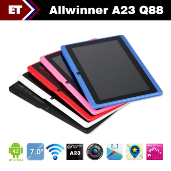 7 inch Q88 A23 Dual Core Capacitive Multi Touch Android 4.2 tablet pc 512MB Ram 4GB Rom Dual camera