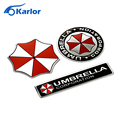 Car styling 3D Aluminum Alloy Umbrella Corporation Car Stickers Resident Evil For Chevrolet Cruze Opel Peugeot