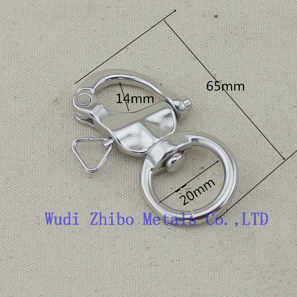 65mm 20pieces per lot stainless steel spring shackle,snap buckle,metal hanging hook buckle(China (Mainland))