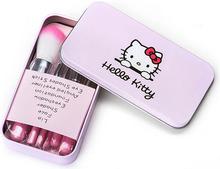 2015 HOT makeup brushes Hello Kitty Nake3 brush kit Sets for eyeshadow blusher Cosmetic Brushes Tool