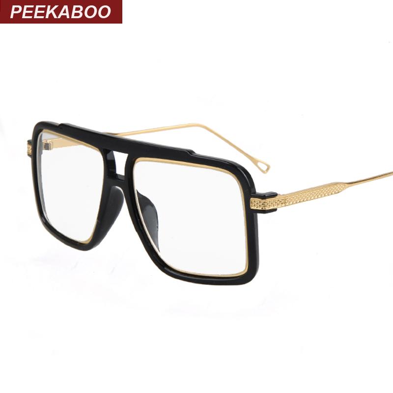 Big square luxury eye glasses frames for men 2016 black ...