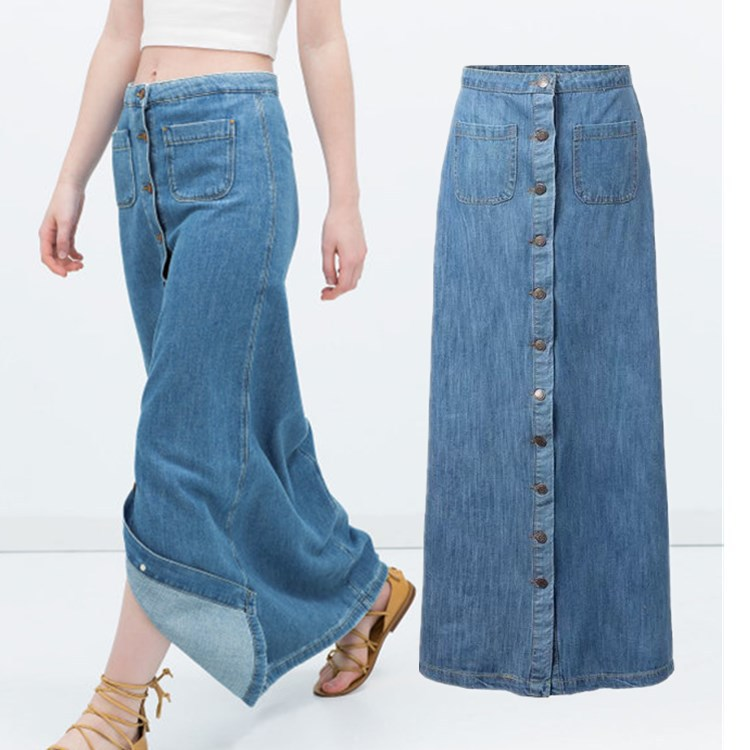 Excellent Popular Long Jean Skirts WomenBuy Cheap Long Jean Skirts Women Lots