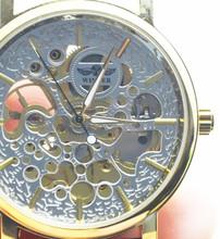Ganador reloj mecánico automático 2015 hombres de tendencia reloj de la correa del recorte jwh004
