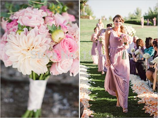 Dusty Pink Bridesmaids Dress Gowns One Shoulder Vestido De Festa Long 2016 A Line V Neck