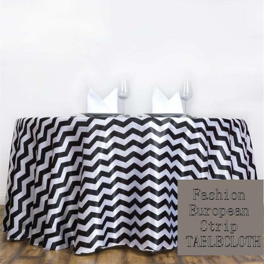European Polyester Wedding Striped Fashion Tablecloth Stripe Table Covers  Party Hotel Table Decorations Free Shipping