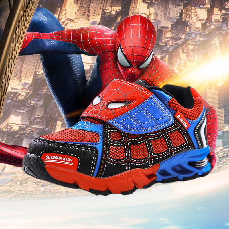 3-12 Yrs Kids Shoes Spider-Man Sneakers 2016 Children Sports Manufacturers Boys Running Shoes Brand Casual Sneakers Shoes(China (Mainland))