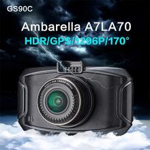 Ambarella A7 Car DVR GS90C/GS90A/G90 Car Camera 1296P HD Dvr Recorder Dash Cam With GPS Night Vision Camera(China (Mainland))