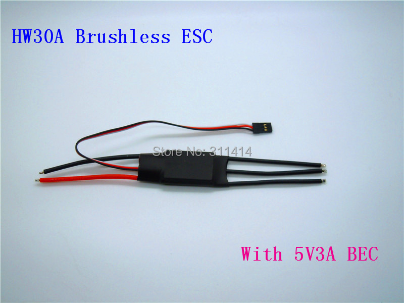 1piece 30A Brushless Motor Speed Controller RC ESC 3A / 5V BEC 2-3S + Free Shipping High Quality Retail & Dropship(China (Mainland))