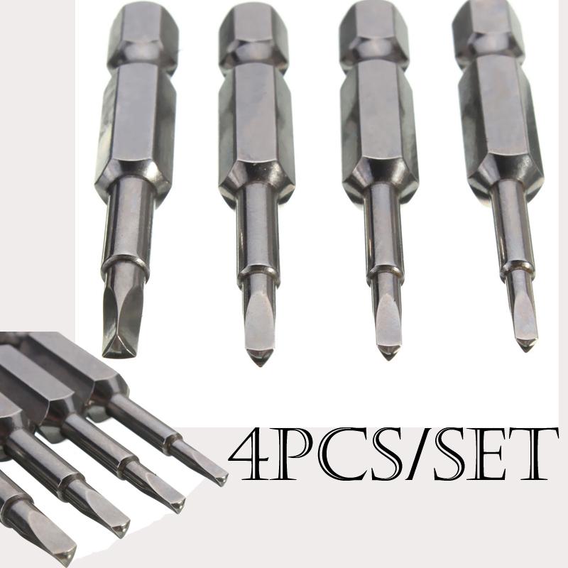 "Small Split Tools 4pcs/Set Magnetic Triangle Screwdriver Bits S2 Steel 1/4"" Alloy Steel Hex Shank 50mm Mini Screwdriver Short(China (Mainland))"