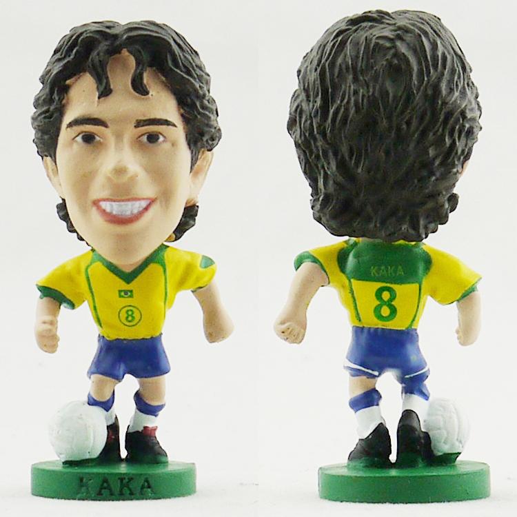 corinthian prostars World Cup Soccer Brazil Kaka Doll model The best football dolls Brazil home Kaka Ronaldo(China (Mainland))