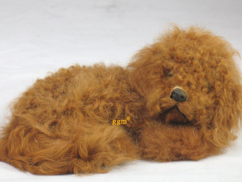simulation animal brown Ted dog about 17 x8cm model toy,polyethylene & furs resin handicraft,props,decoration gift d0202(China (Mainland))