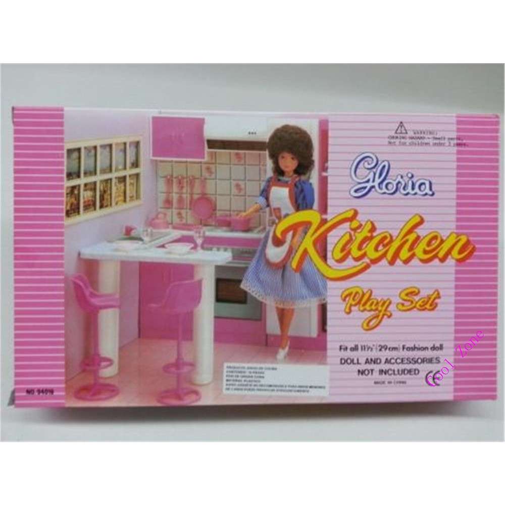Miniature Furnishings Combo Kitchen for Barbie Doll Home Free Transport