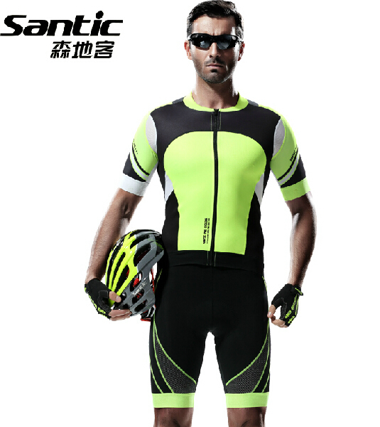 2015 New SANTIC Summer Style Cycling Jersey Set Professional Mens MTB Shorts Bike Bicycle Clothing Kits Sport Suit<br><br>Aliexpress