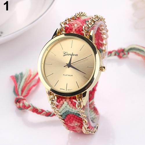Часы-браслет женские с плетением