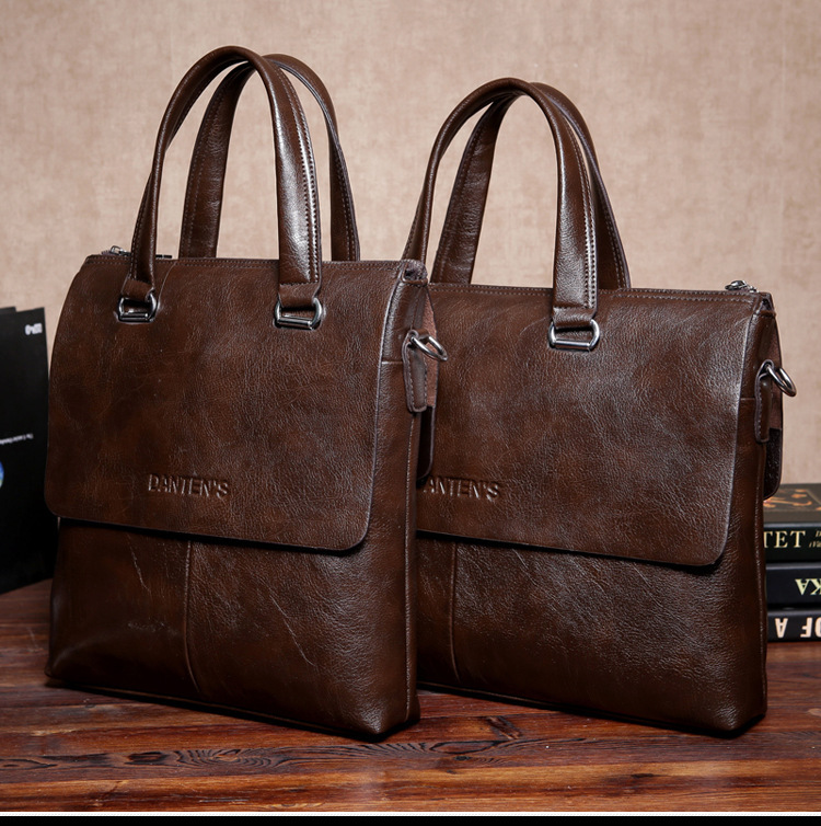 2016 new Leather men Shoulder Bags Brand men leather briefcase business men's travel bags tote Men messenger bags(China (Mainland))