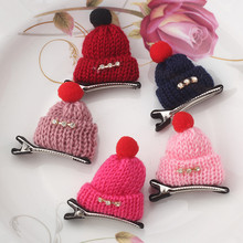 New Fashion Children Diamond Gift Cute Headwear Korean Wool Hat Hair Clips Cap Hairpins Girls Hair Accessories Women Barrettes(China (Mainland))