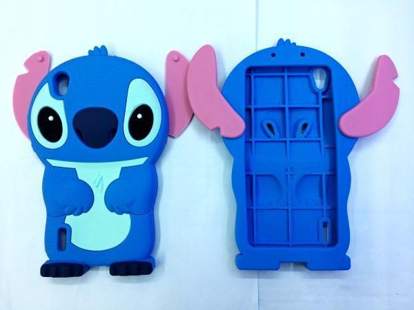 Fashion Animal 3D Cartoon Lovely Cute Blue Stitch Soft Silicone Skin Back Cases Huawei Ascend P7 Covers - LONWAY Electronics technology Co. Ltd store