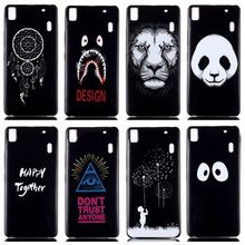 Panda Tiger Soft TPU Silicone Phone Case For Lenovo K3 Note A7000 Case 5.5″ Back Cover Skin Protect Shock Proof Bags