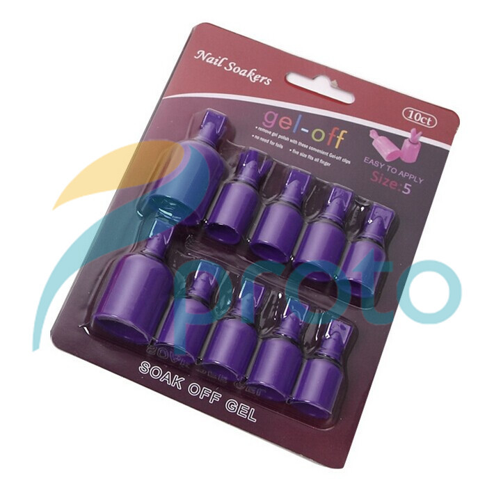 Buy 10pcs set wearable salon acrylic nail for Acrylic nail removal salon