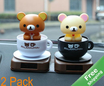 Lovers solar toy+ Cute bear design + Solar powered + 2pcs/lot + Free shipping