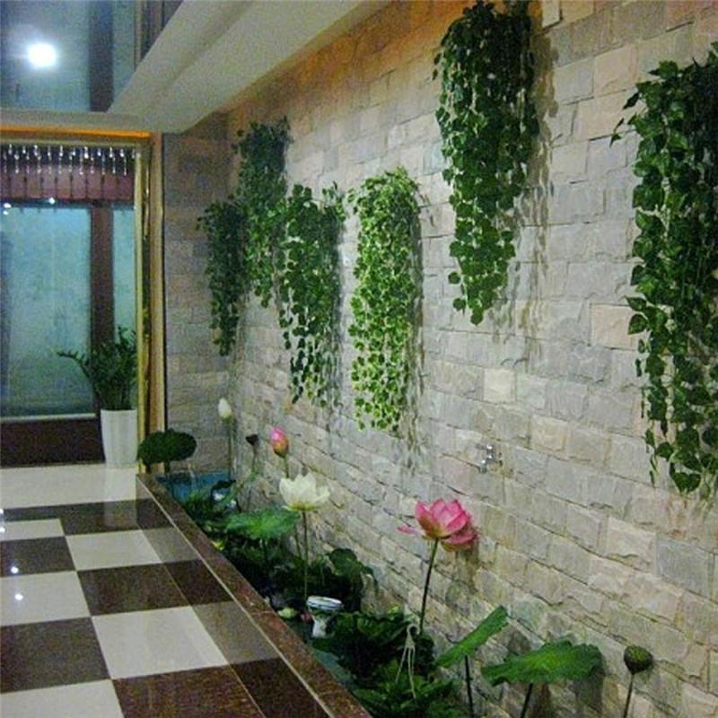 5PCS 90CM artificial grape vine leaves vine wall ceiling door lintel decor artificial flowers for decoration Home Wedding Garden(China (Mainland))