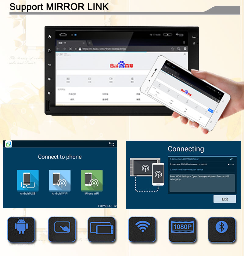 FREE SHIPPING 2 Din Android 5.1 Universal Car DVD GPS QuadCore 16GB double din car multimedia Player GPS Navigation Radio Stereo