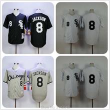 #8 Bo Jackson White Sox Jersey, 1991 1993 Bo Jackson Mens Chicago White Sox Throwback Baseball Jerseys Black White Gray(China (Mainland))