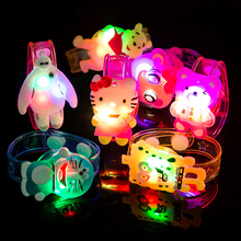1pcs Hot Creative cartoon watch Boys girls flash wrist band glow luminous bracelets children's day/Birthday party gifts toys