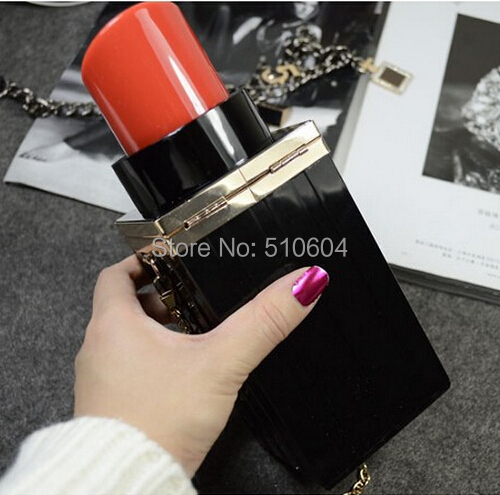 2015 Fashion Luxury Women Handbag Chain Shoulder Messenger Bag Mini Lipstick Perfume Bottle Clutch Purse Evening Bag #BA355(China (Mainland))