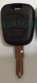 KL15 New 2 Buttons Remote Key Shell for Peugeot car key blank with logo(China (Mainland))