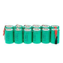 12PCS Ni-Cd 1.2V 2200mAh 4/5 SubC Sub C Rechargeable Battery with Tab - Green(China (Mainland))