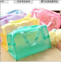 Vida en el hogar creativo necesidades de viaje floral transparente impermeable paquete de admisión / cosmético / bolsa