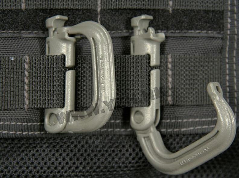 EDC GEAR 5 Pcs/lot Grimloc D shape carabiner webbing belt/strap bergen rucksack ITW ghillie(China (Mainland))