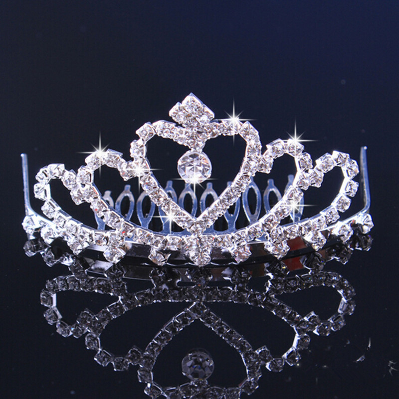 Luxury Wedding Bridal Crystal Tiara Crowns Princess Pageant Prom Rhinestone Veil Tiara Headband Wedding Hair Accessory Girl(China (Mainland))