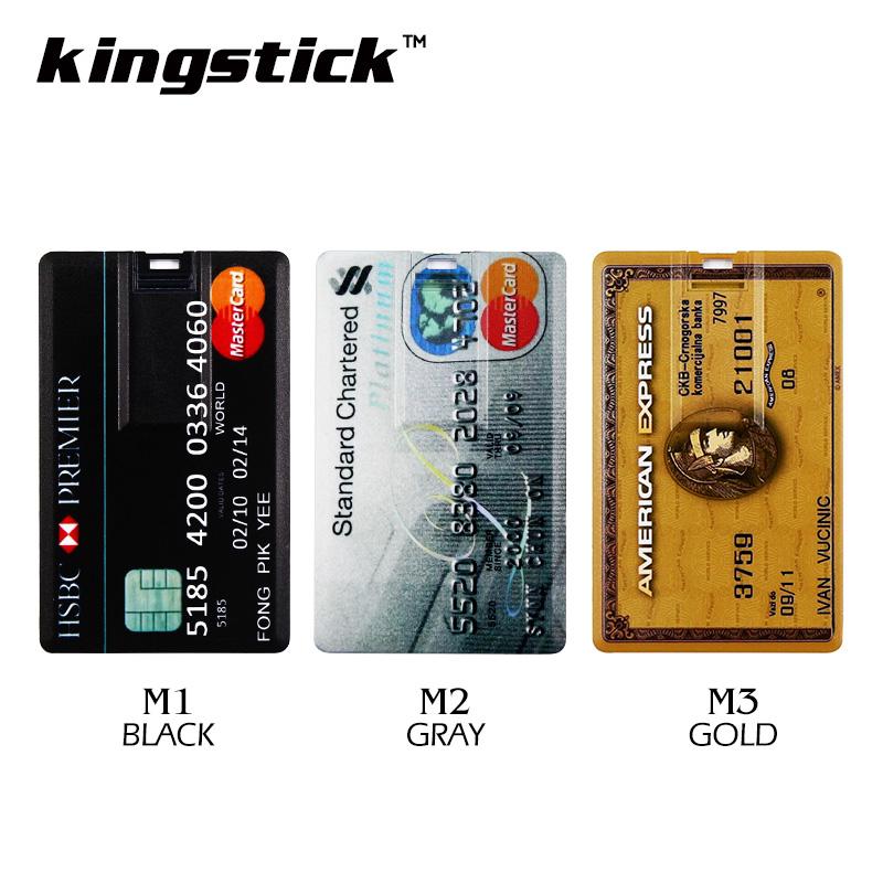 USB Flash Memory stick Credit Card 16GB USB Flash Drive Pen Drive 32GB 64GB Pendrive 4GB 8GB External Storage USB 2.0 Flash Card(China (Mainland))