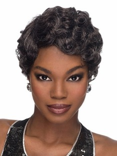 Short Curly Black Wigs for Black African American Women Hair Wigs