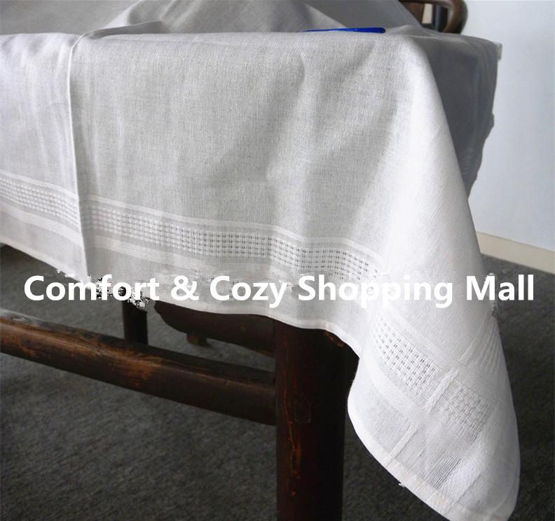 Solid white cotton table cloth 80cm 80cm linen table cloth for White cotton table cloth