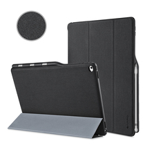 For iPad Pro 12.9 Case,Premium PU Slim Fit Flip Folio with Pencil Holder, Auto Sleep/Wake Smart Fabric Cover for iPad pro 12.9(China (Mainland))
